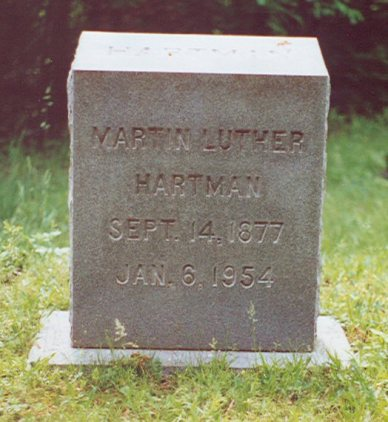 Hartman Martain Luther Headstone