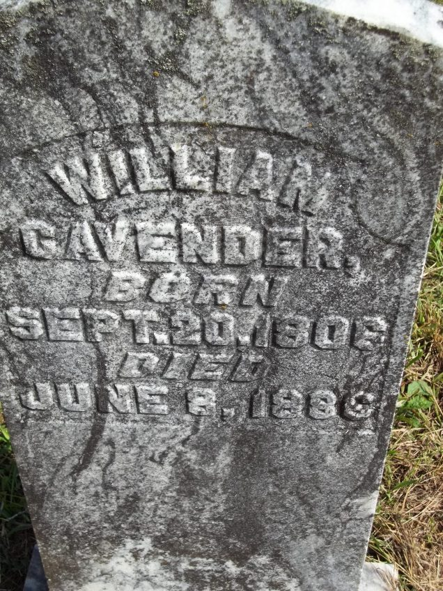 WilliamCavenderHeadstone